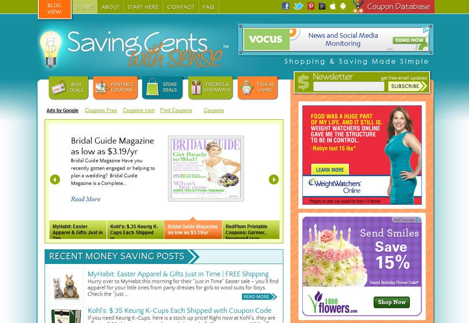 www.savingcentswithsense.net