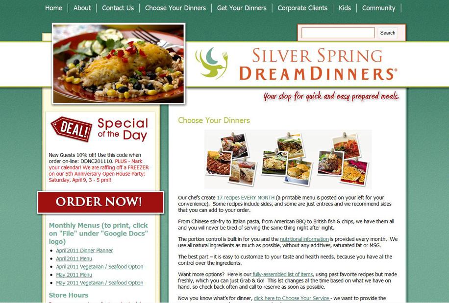 www.silverspringdreamdinners.com